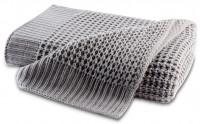 Biederlack Strickdecke - Knit grau