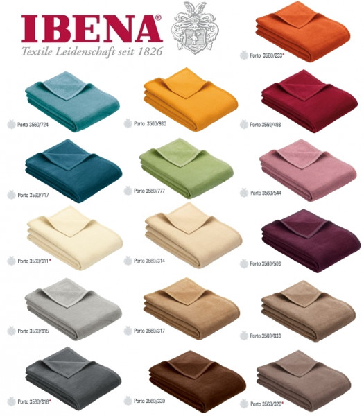 Ibena - Uni Decke - Porto - 150x200cm