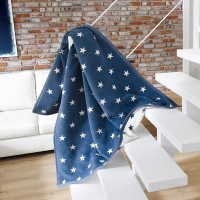 Biederlack - Orion Cotton - Texas Stars blau