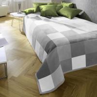 Biederlack Baumwolldecke - Grey-Woven