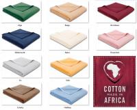 2er Set Biederlack - Cotton Pure Uni - 100% Baumwolle